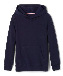 Áo hoodie xanh navy.