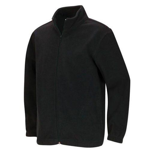 Áo khoác dây kéo màu đen