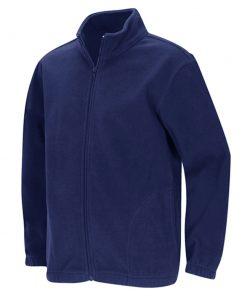 Áo khoác dây kéo màu xanh blue