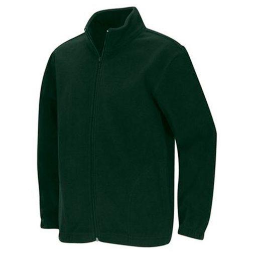 Áo khoác dây kéo màu xanh rêu