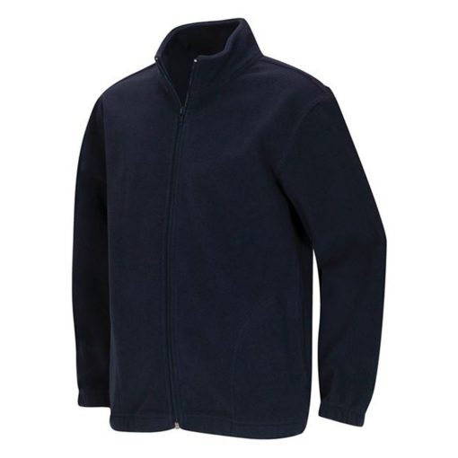 Áo khoác dây kéo màu xanh navy