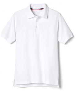 Áo polo trắng ngắn tay vạt lệch