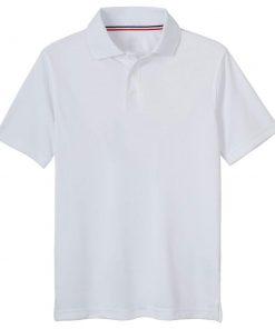 Áo polo trắng ngắn tay
