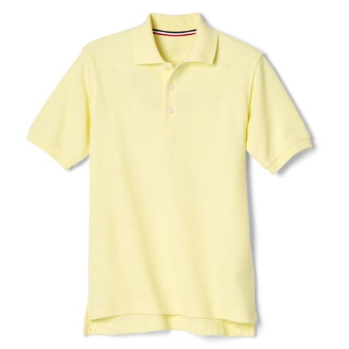 Áo polo vàng ngắn tay vạt lệch