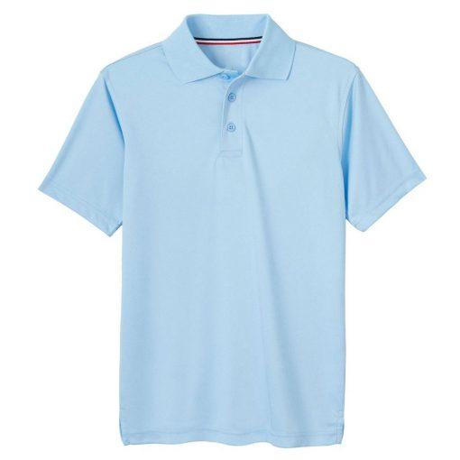 Áo polo xanh ngắn tay