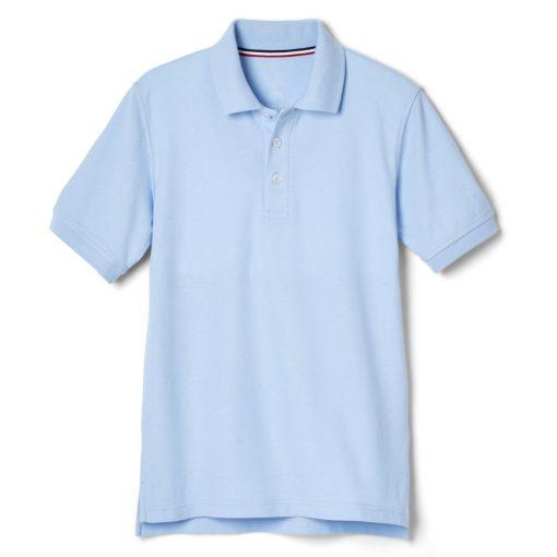 Áo polo xanh ngắn tay vạt lệch
