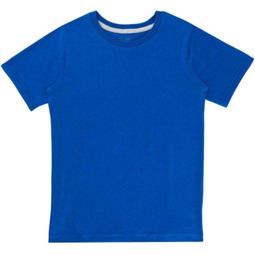 Áo thun cổ tròn màu xanh