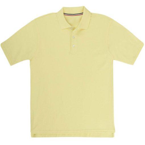 Áo thun polo ngắn tay màu vàng