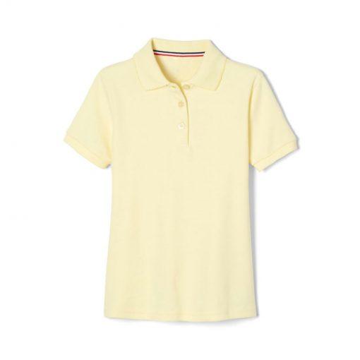 Áo polo basic tay ngắn nữ màu vàng