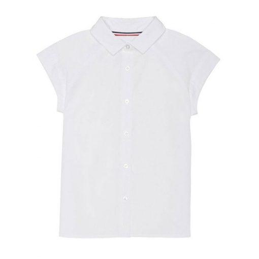 Áo sơ mi raglan đồng phục trắng