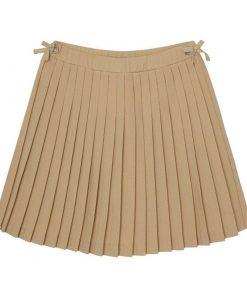Váy xếp li nhặt màu khaki