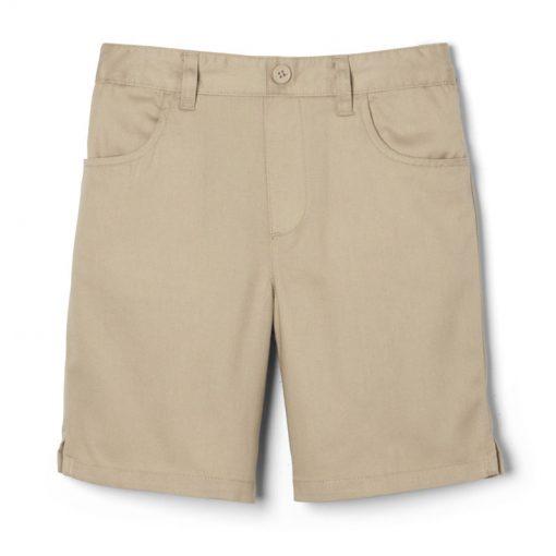 Quần short túi tròn màu khaki
