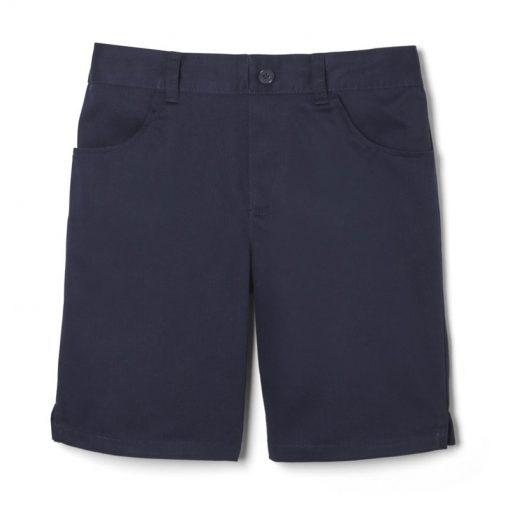 Quần short đồng phục túi tròn màu xanh navy