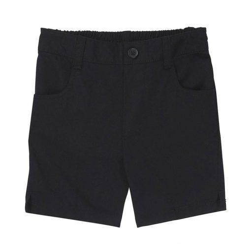 Quần short túi tròn màu đen