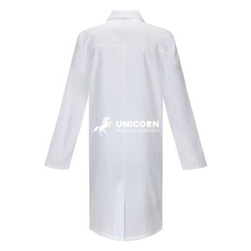 Áo blouse bác sỹ nam trắng dài tay - mặt sau