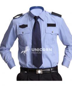 Áo đồng phục bảo vệ màu xanh