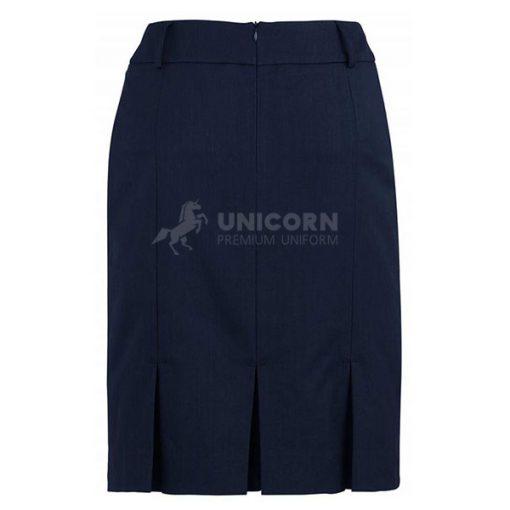 Chân váy xếp ly màu xanh navy