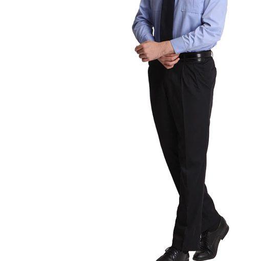 Áo sơ mi đồng phục bảo vệ kết hợp với quần đen rất sang trọng