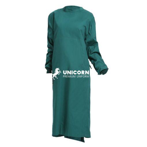 Áo choàng mổ xanh cổ vịt - Đồng phục phòng mỗ