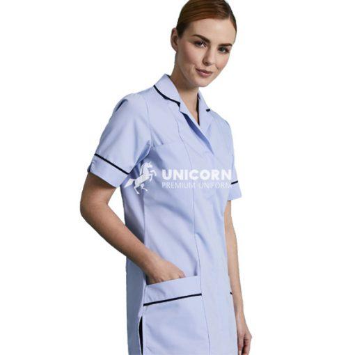 Áo y tá nữ đồng phục sang trọng cho bệnh viện