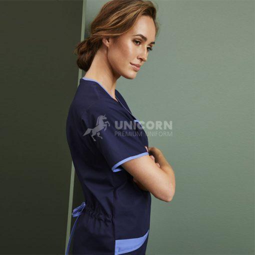 Áo điều dưỡng đồng phục màu xanh navy