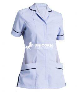 Đồng phục Áo y tá nữ cổ danton