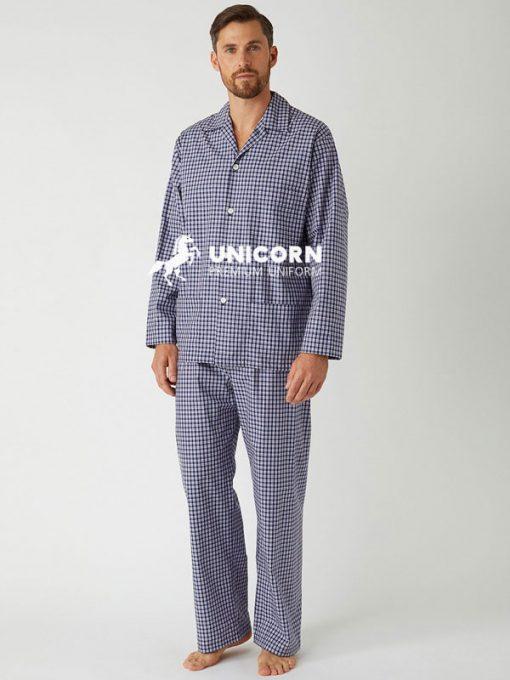 Đồng phục bệnh nhân Pyjama nam caro mạnh mẽ và độ đáo