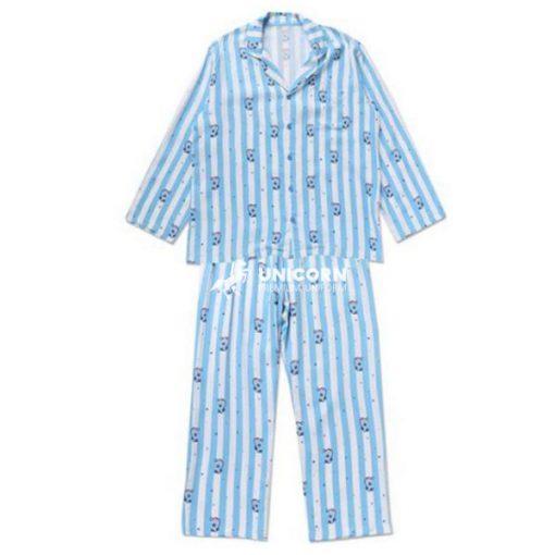 Đồng phục Pyjama trẻ em bệnh viện màu xanh da trời
