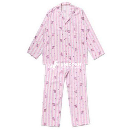 Pyjama bệnh nhân trẻ em màu hồng cho nữ