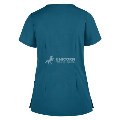 Áo bác sĩ phẫu thuật túi xéo màu xanh