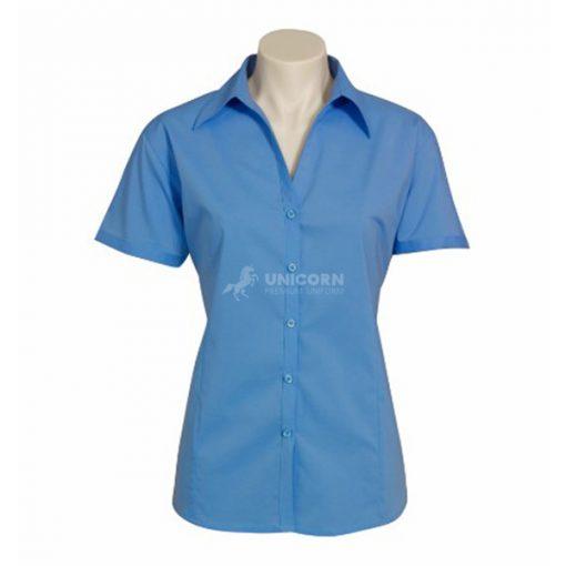 Áo sơ mi nữ tay ngắn công sở màu xanh hải quân