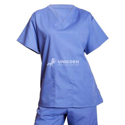 Bộ bác sĩ phòng mổ màu xanh da trời