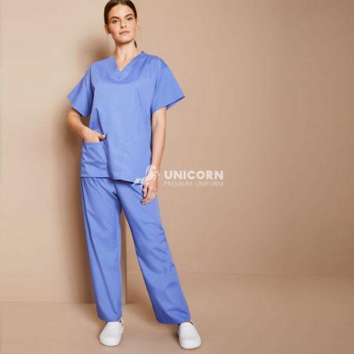 Bộ đồ bác sĩ mổ màu xanh trẻ trung năng động