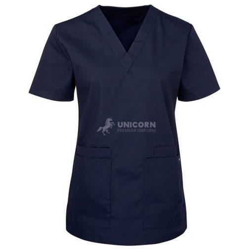 Bộ quần áo điều dưỡng màu xanh navy